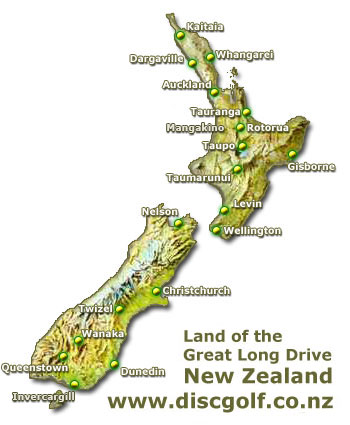 Disc Golf Courses in New Zealand discgolfconz